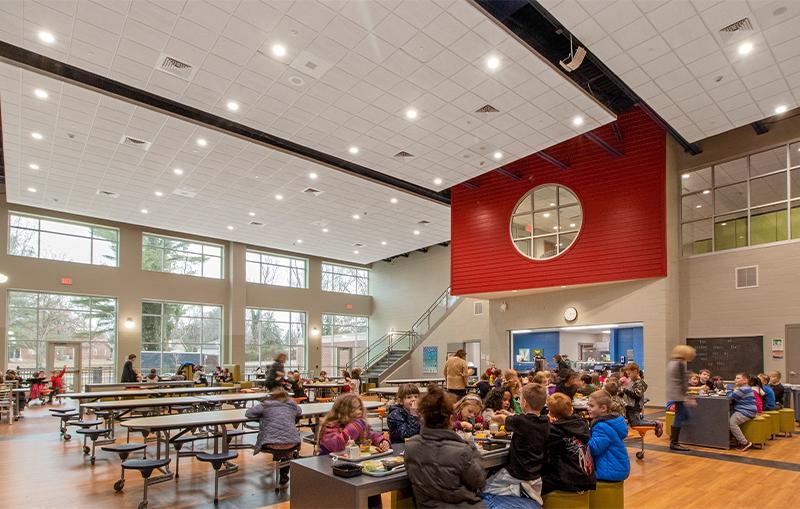 Slate Run Elementary School - Cafeteria